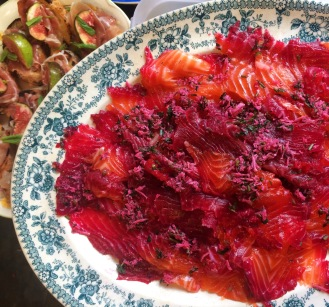 Beetroot & Vodka Cured Sea Trout