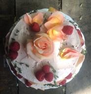 Wedding Cake, Raspberry Victoria Sponge, Meringue Buttercream, Rose