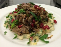 Crispy Lamb, Baba Ganoush, Pomegranate, Mint & Parsley