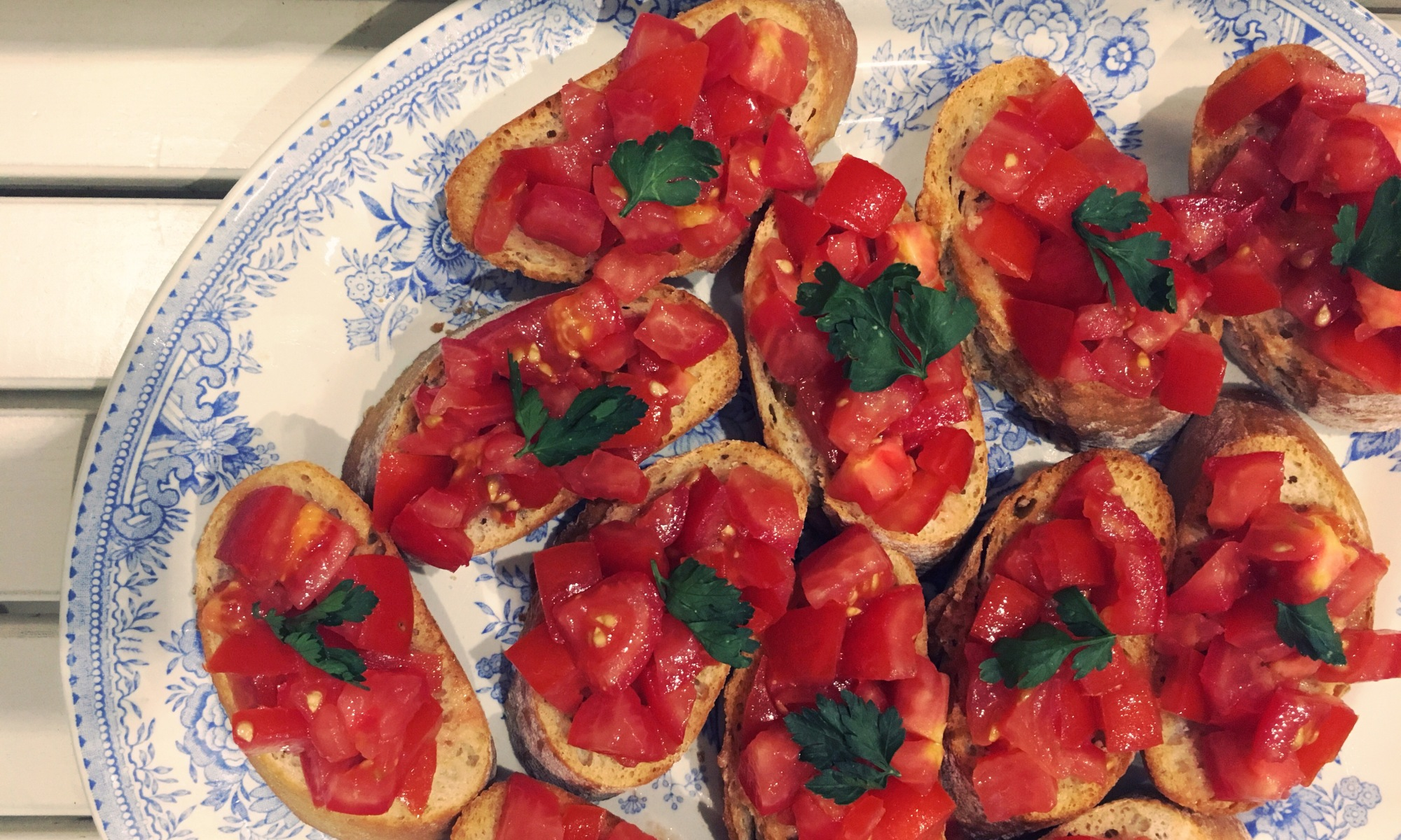 pan con tomate, sussex tomatoes, garlic, sourdough baguette