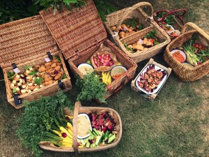 summer, wedding, feast, picnic, organic, vegetables, vegan, croquettes, empanadas, outdoor,